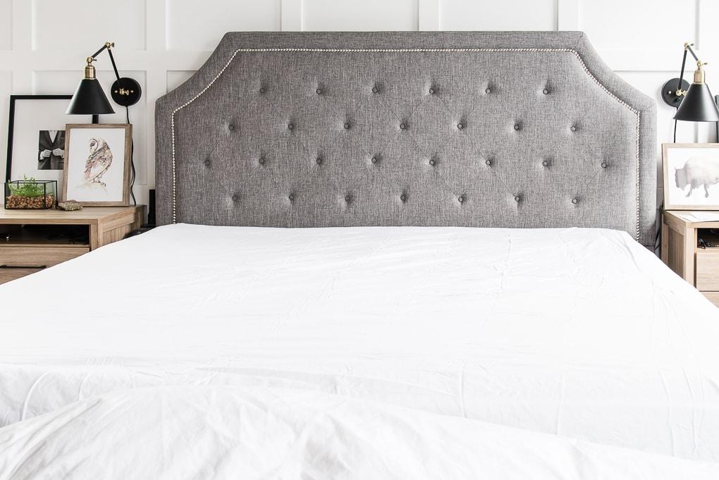 California Design Den white fitted sheet