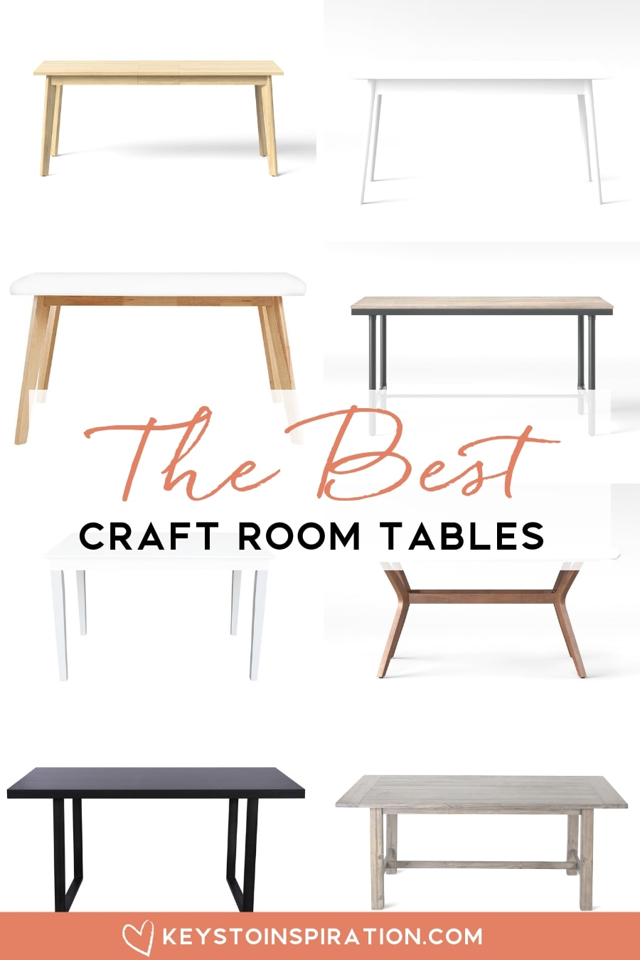 roundup of craft room table for a modern office