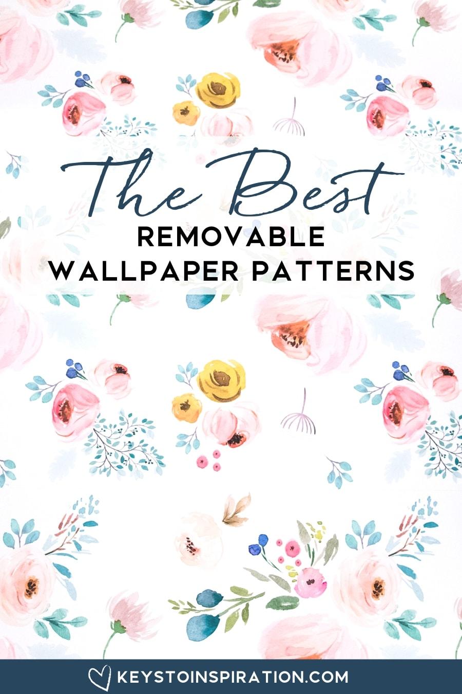 spoonflower removable wallpaper floral pattern modern