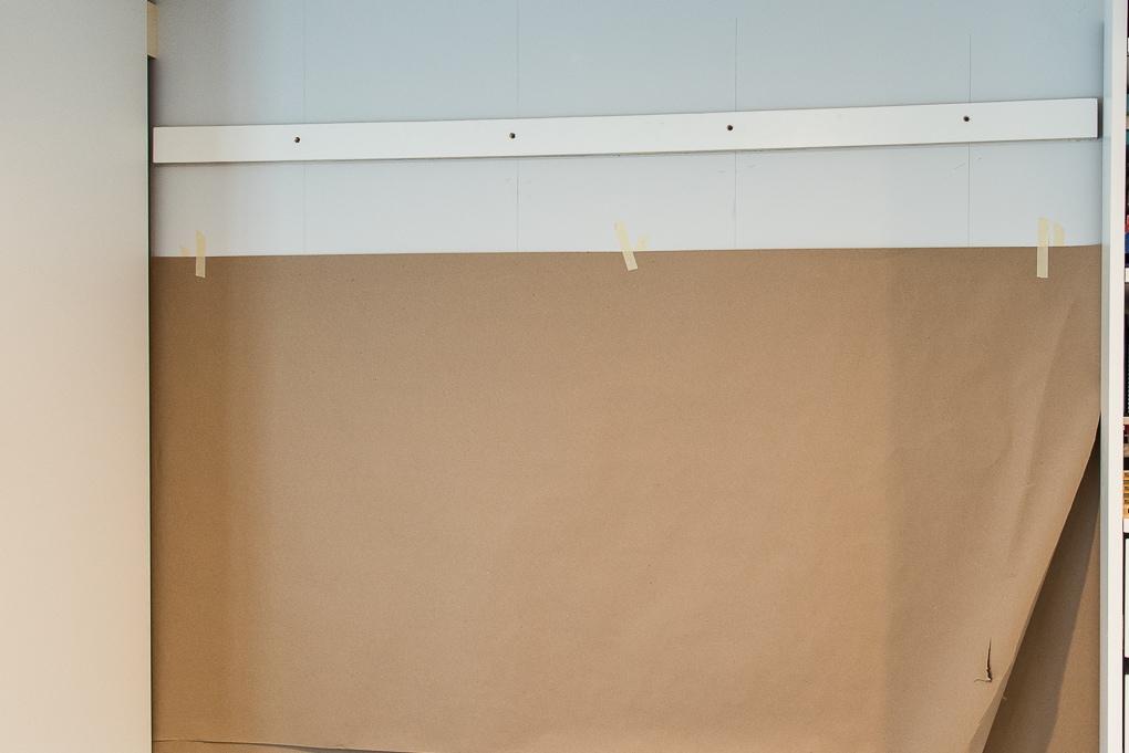 kraft paper on a wall