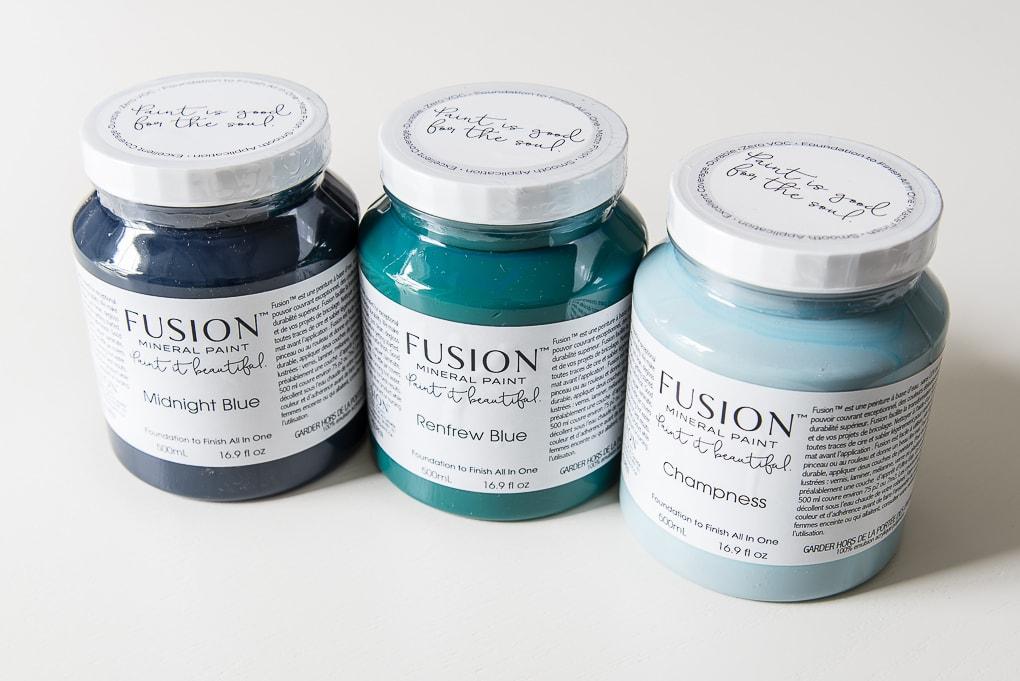 large fusion mineral paints multiple colors