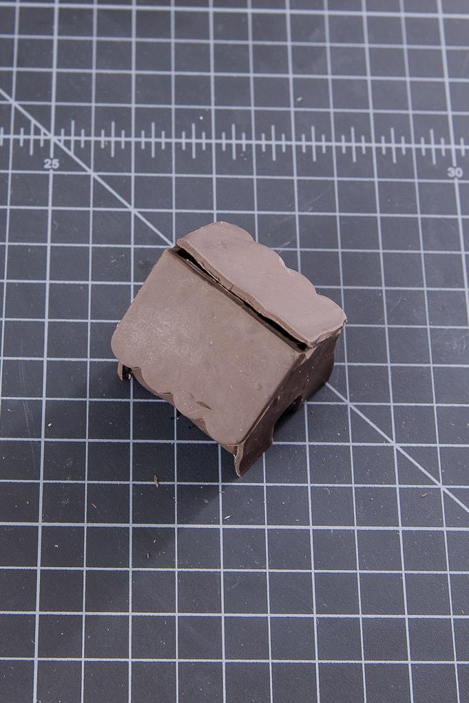 brown clay mini gingerbread house