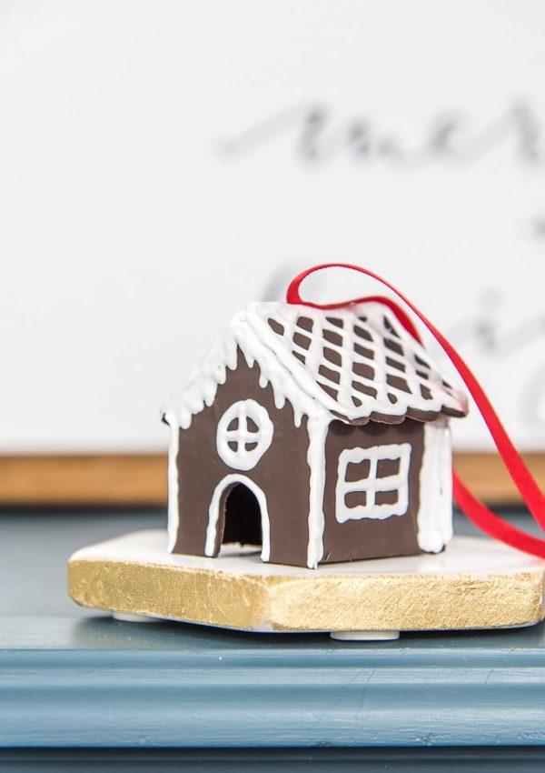 DIY Gingerbread House Ornament