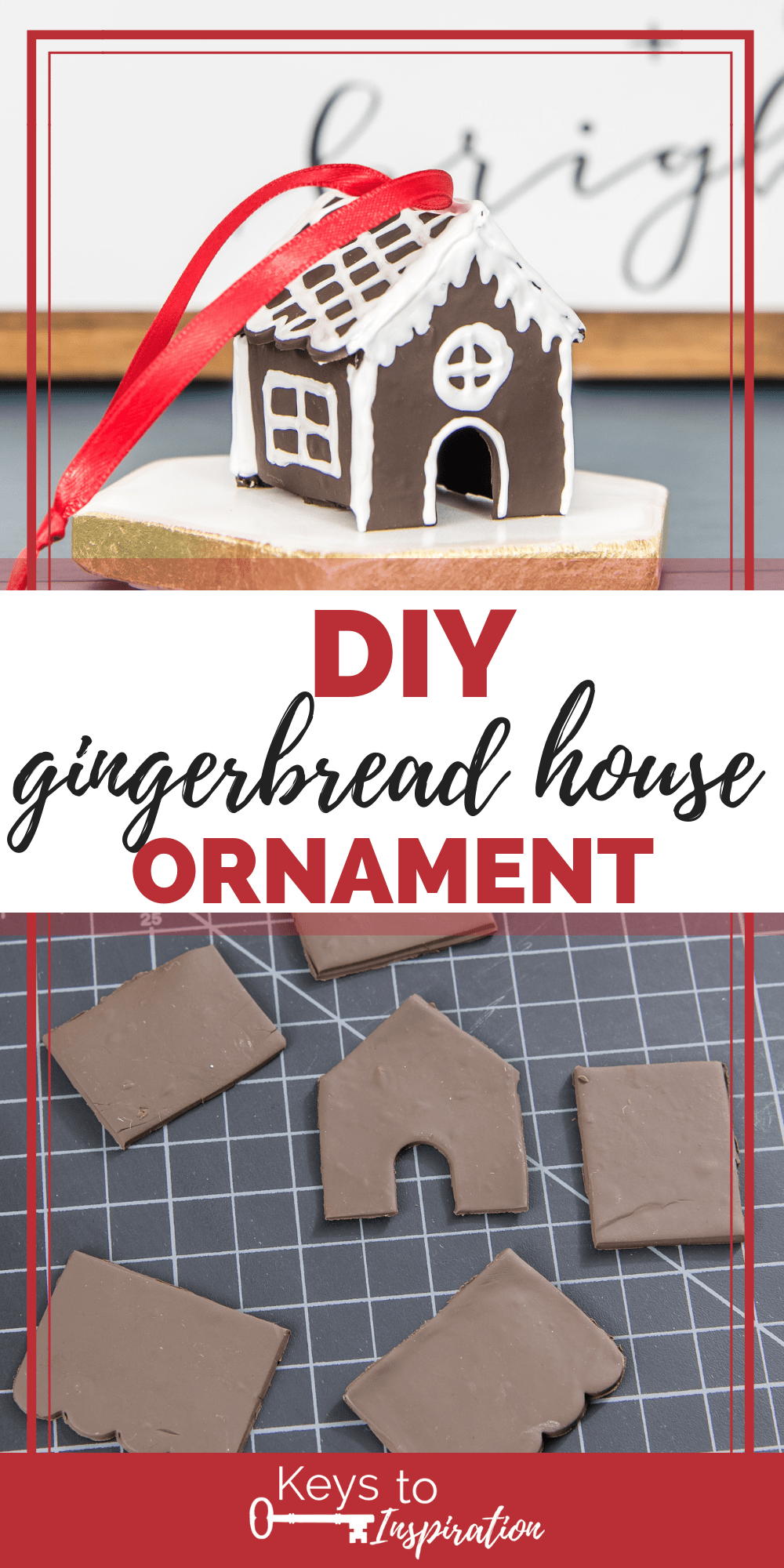 diy mini gingerbread house Christmas ornament