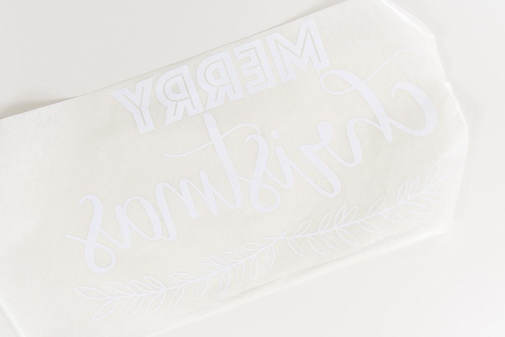white vinyl Merry Christmas design