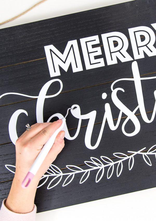 Easy Merry Christmas Modern Sign