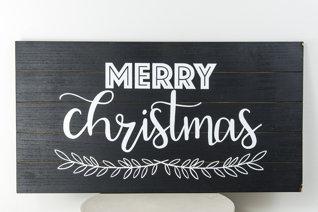 modern black and white wooden sign Merry Christmas design home decor