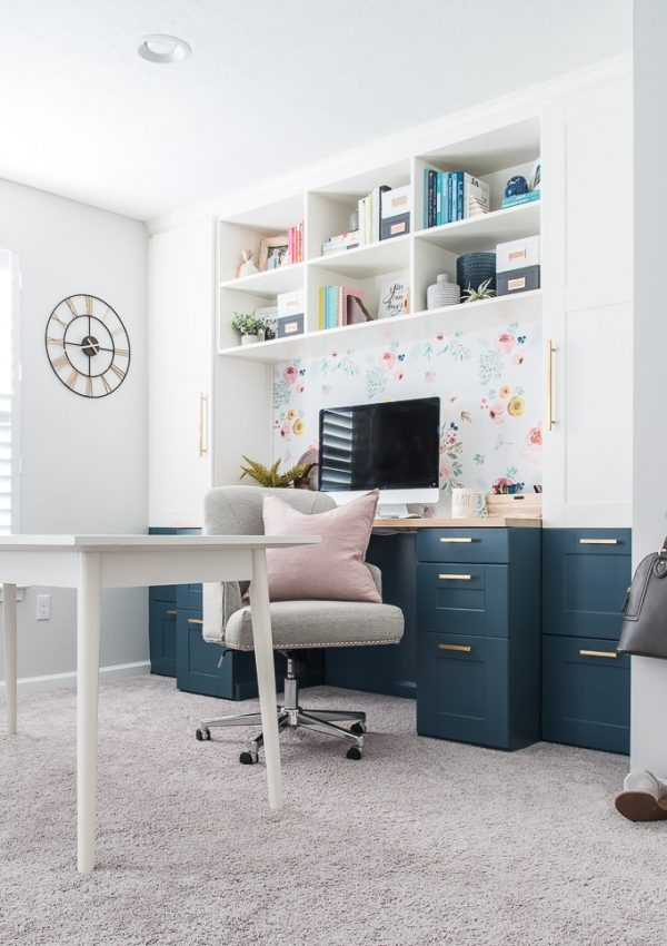 Modern and Bright Creative Home Office Reveal {One Room Challenge Week 6}