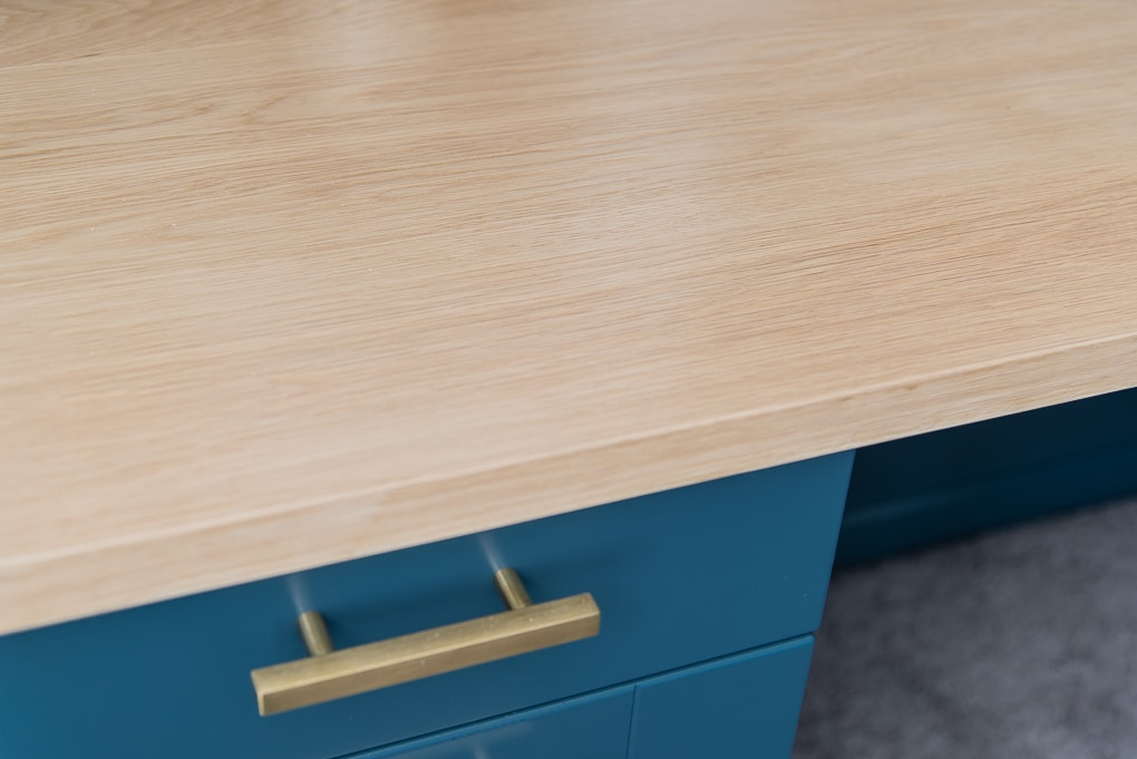white oak wooden desk top countertop