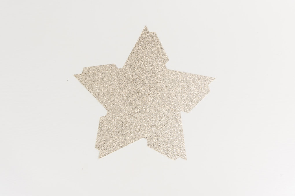 gold glitter star cutout
