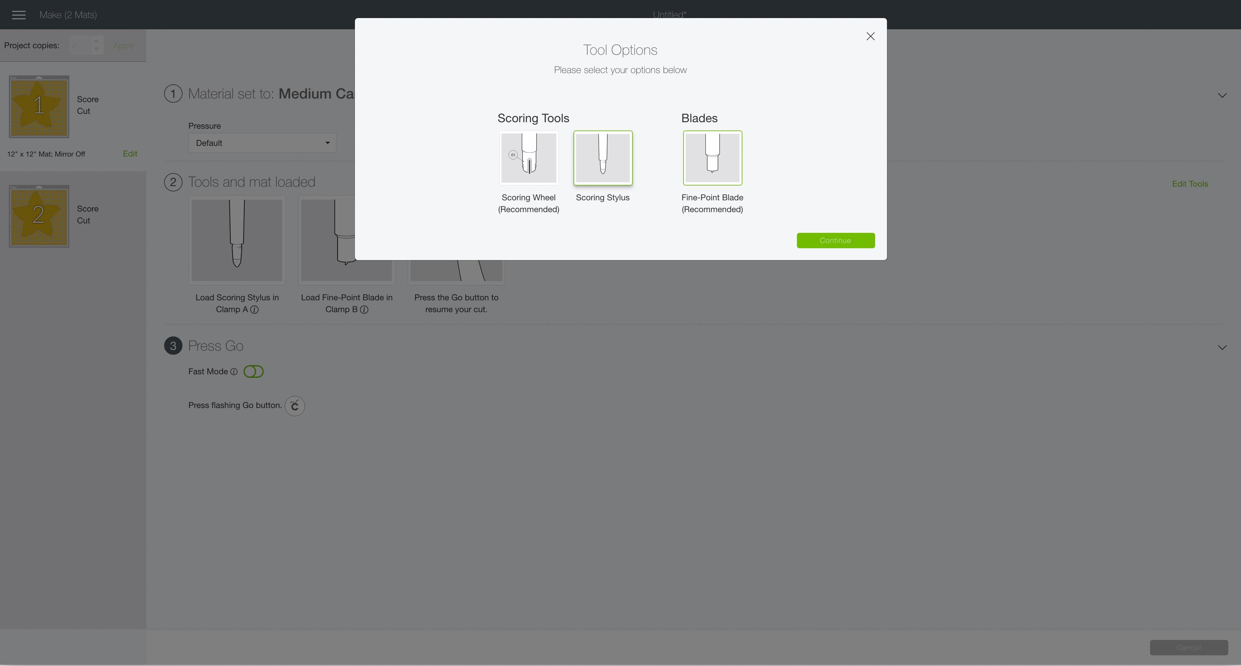 edit tools Cricut Design Space 3D star