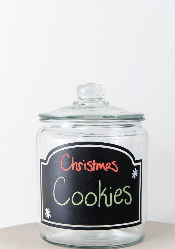 Simple Christmas Cookie Jar Chalkboard Label