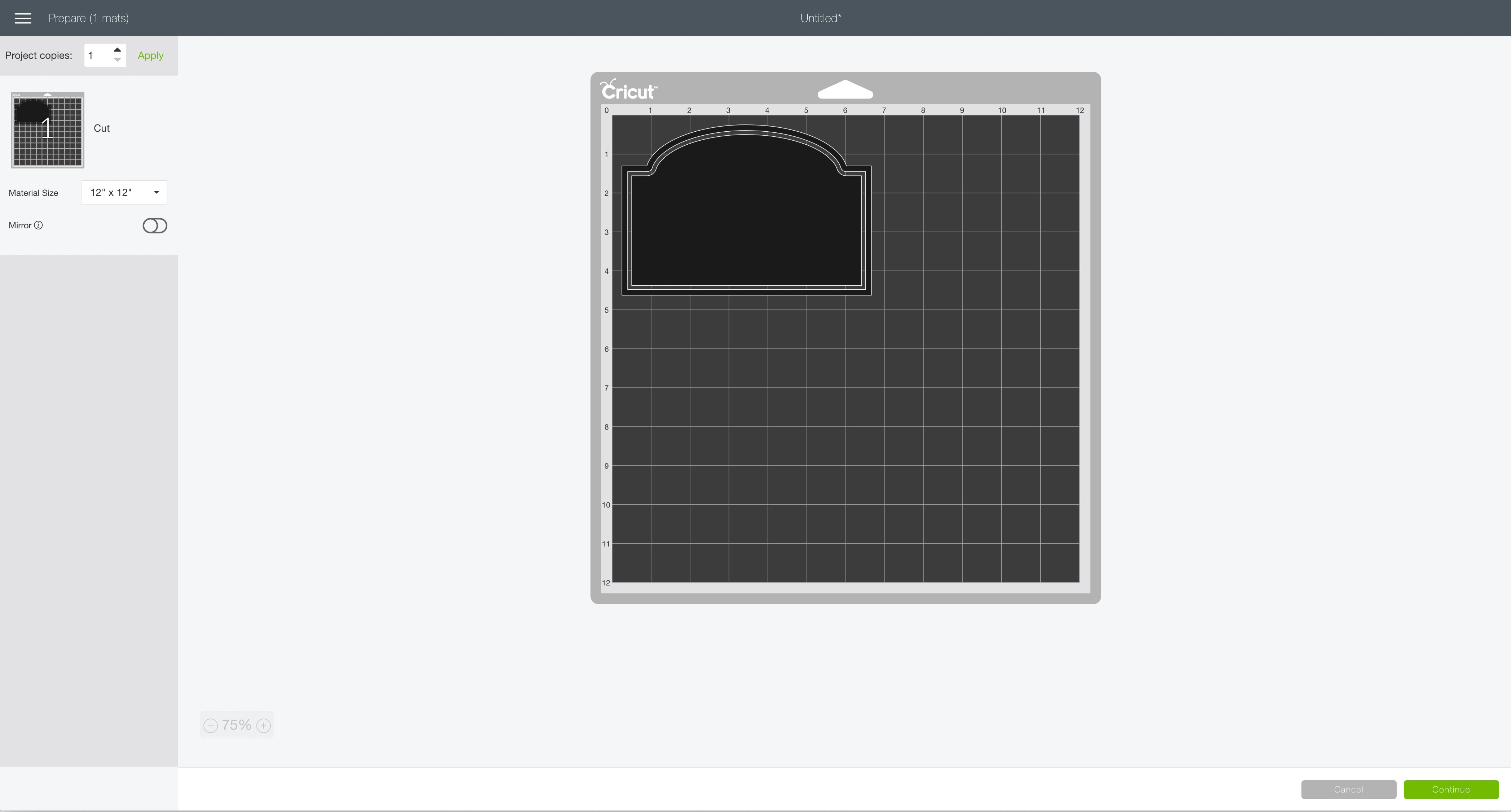 mat preview screen Cricut Design Space simple Christmas cookie jar chalkboard label