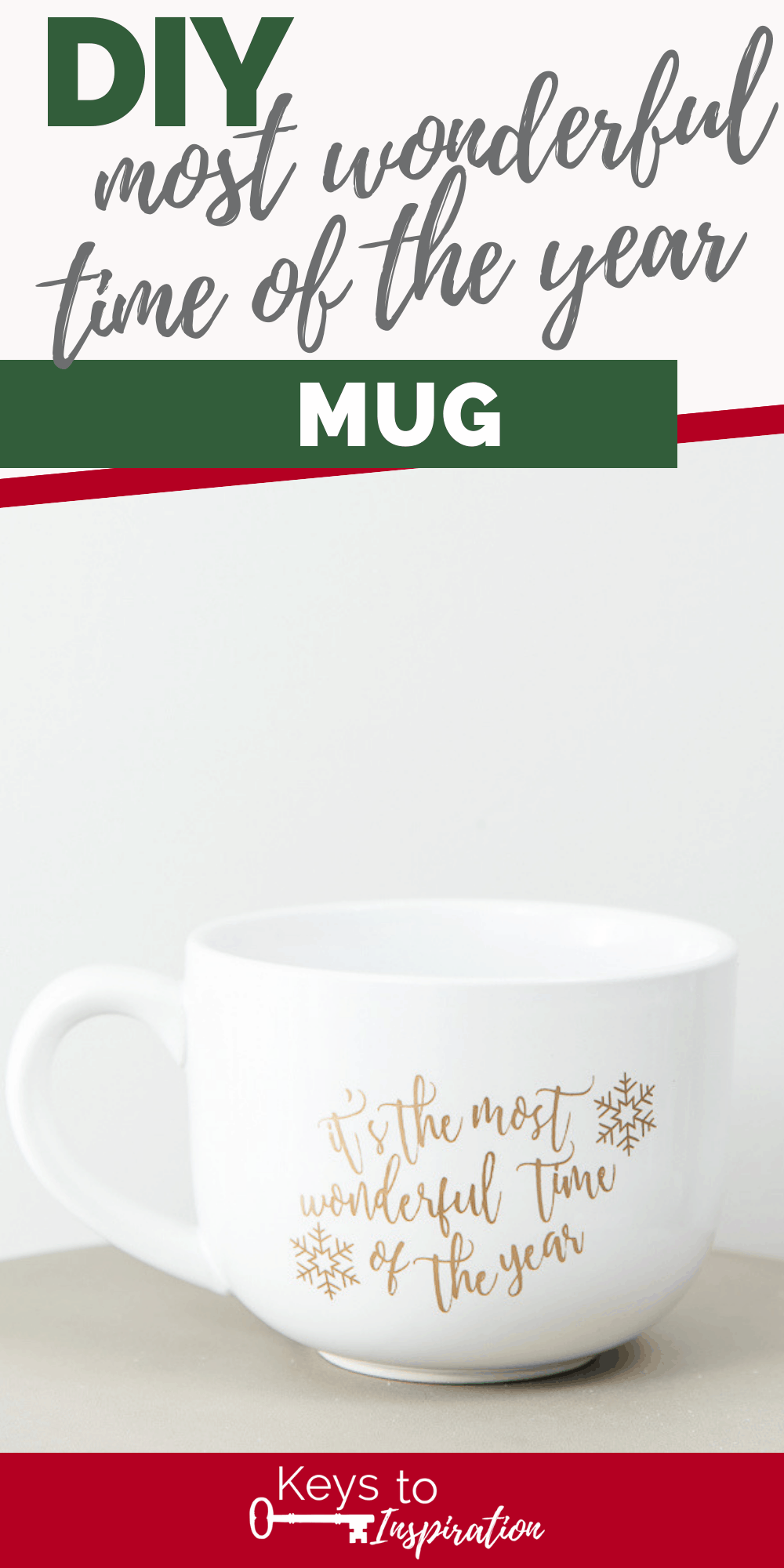 the most wonderful time of the year mug cricut project