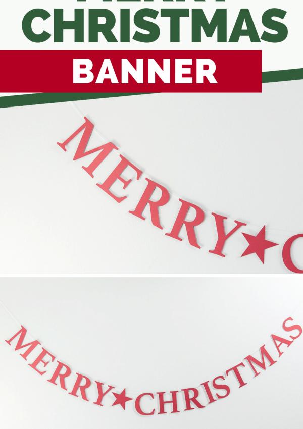 Easy Merry Christmas Banner