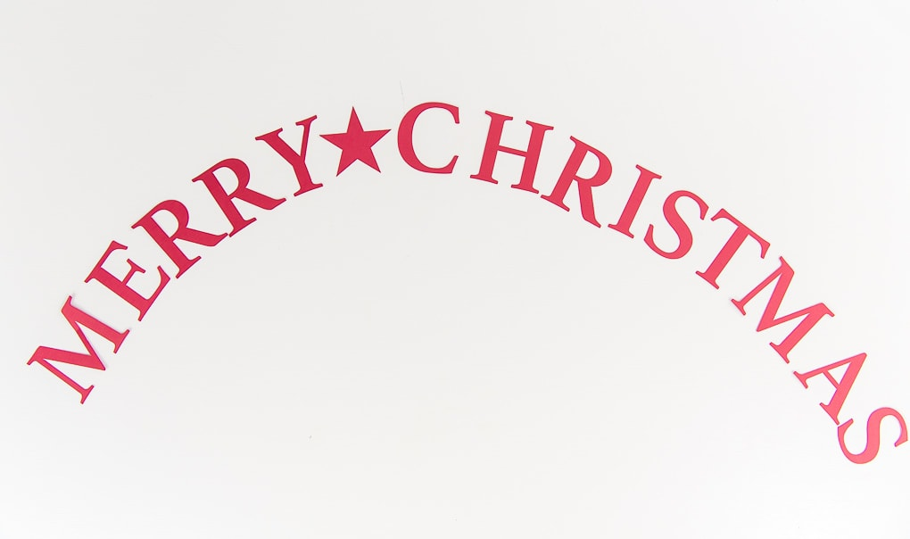 Merry Christmas paper letters red
