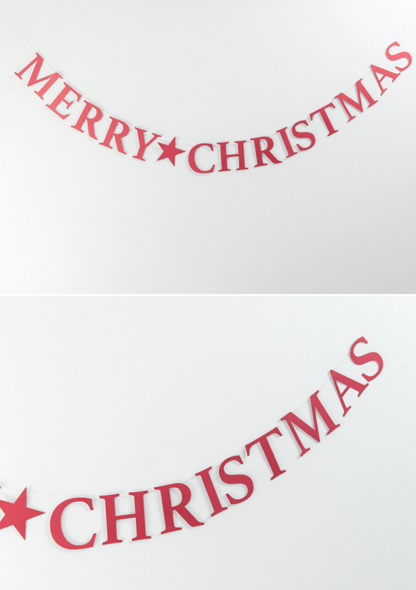 Easy Merry Christmas Banner