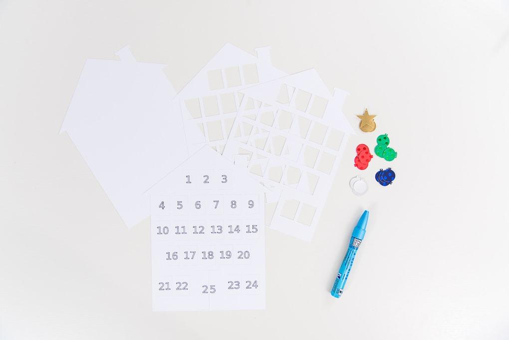 Cricut cut out pieces for modern advent calendar