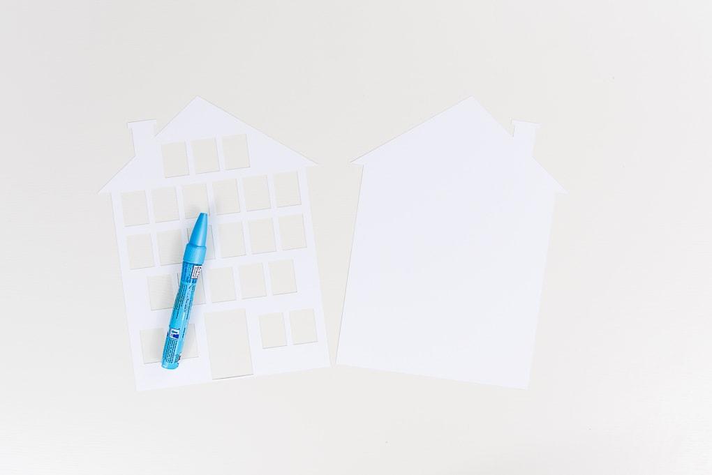 cutout pieces white cardstock modern advent calendar