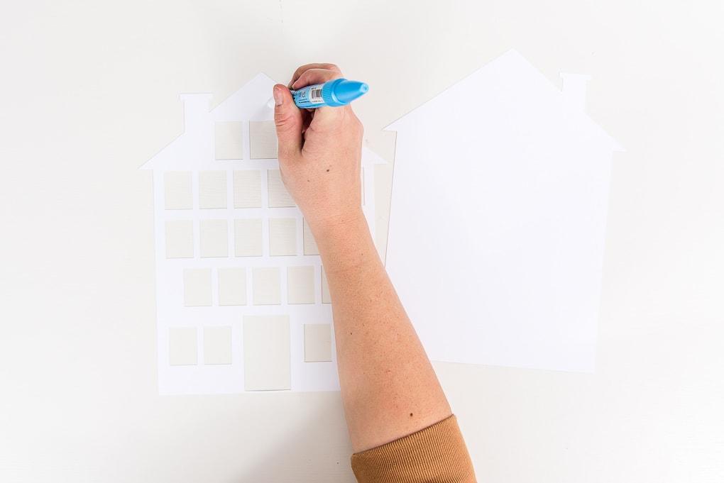 zig glue pen on white cardstock modern advent calendar