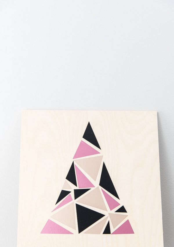 DIY Modern Geometric Tree Sign