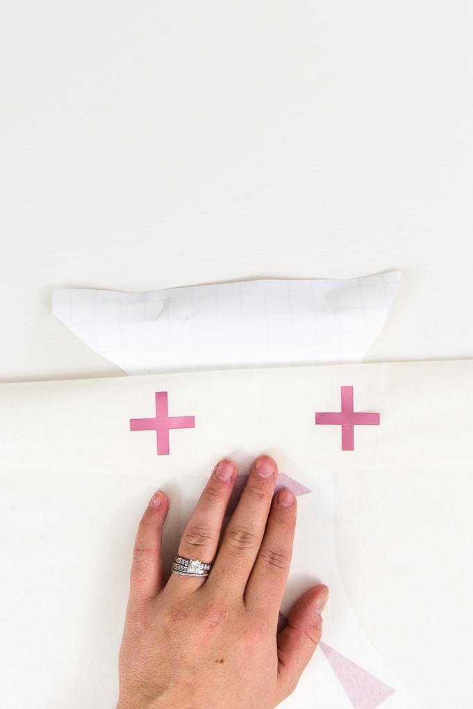 registration marks pink adhesive foil