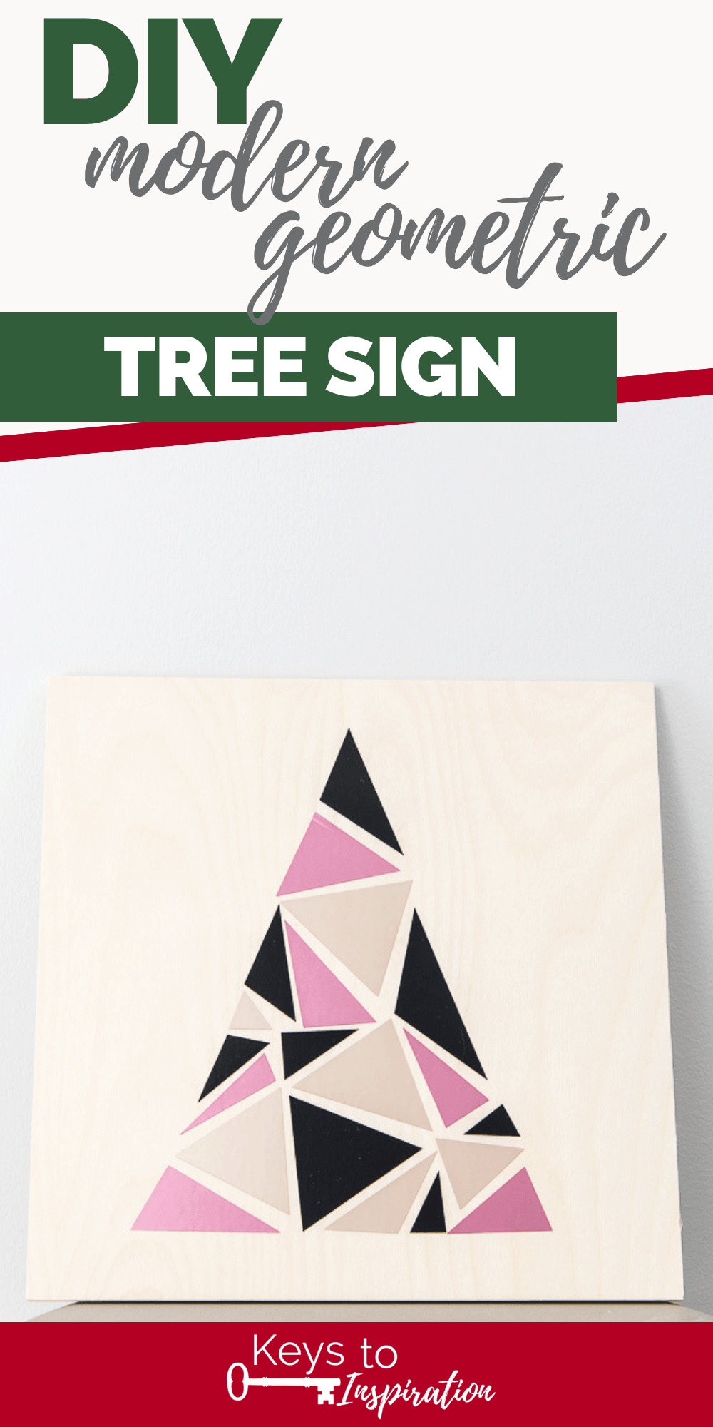 modern geometric tree sign adhesive foil vinyl
