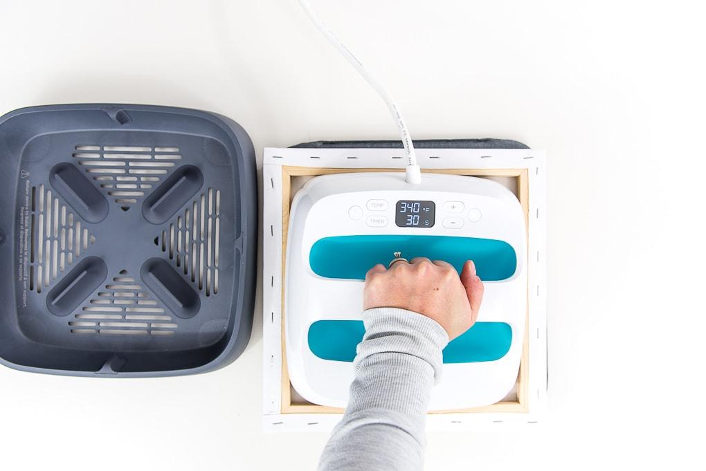 preheating canvas Cricut EasyPress