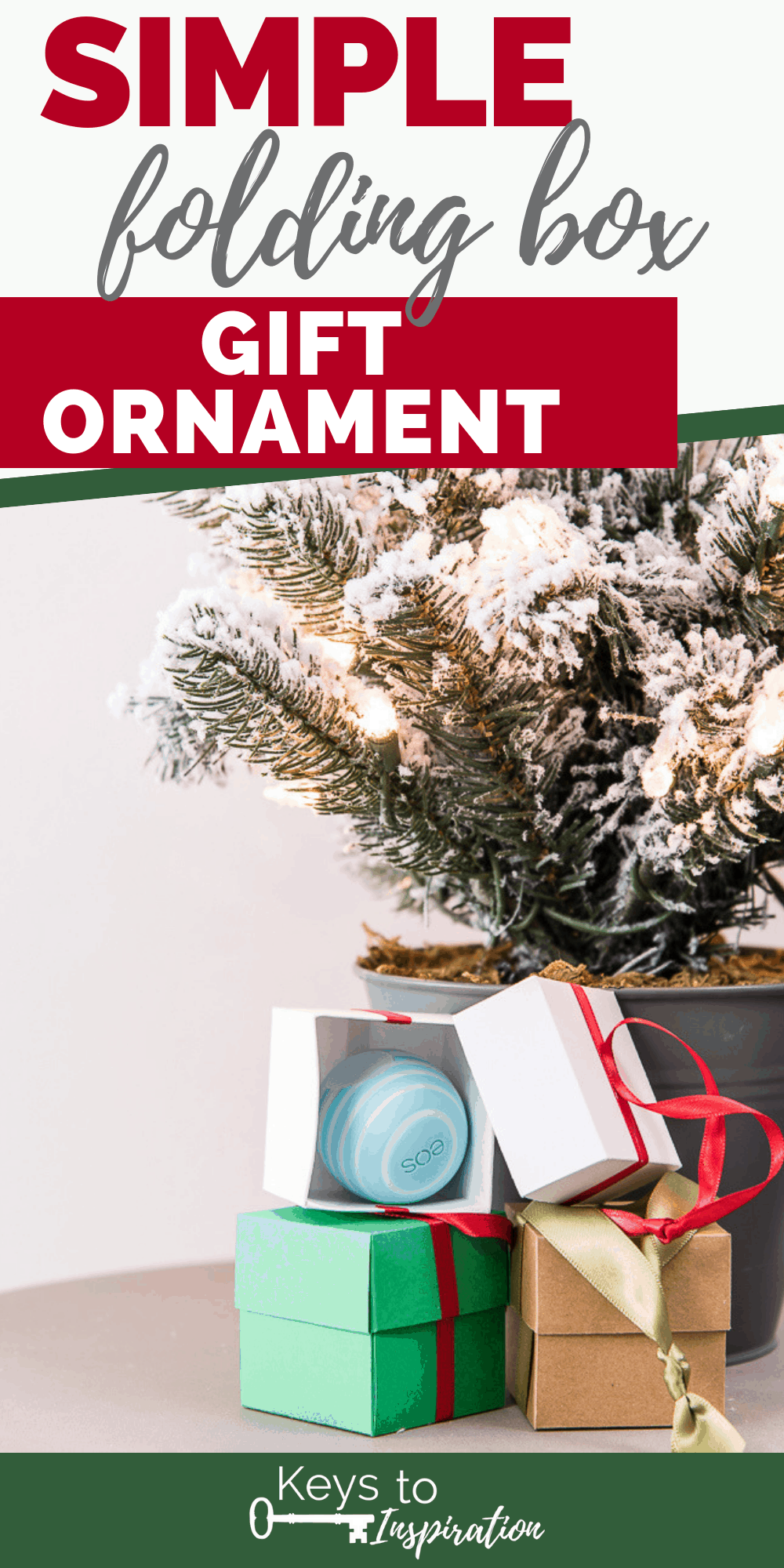 folding box gift ornament paper project