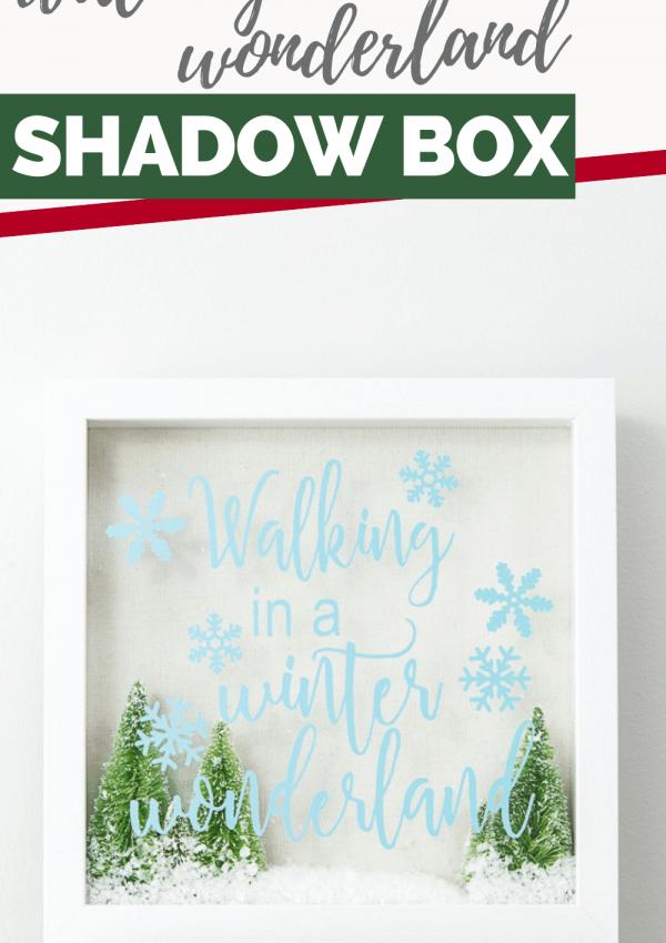 Simple Walking in a Winter Wonderland Shadow Box