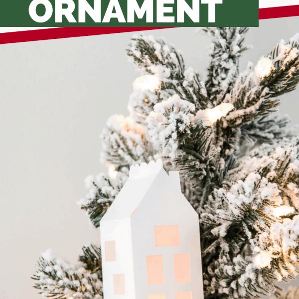 simple winter 3D light up house ornament Cricut project