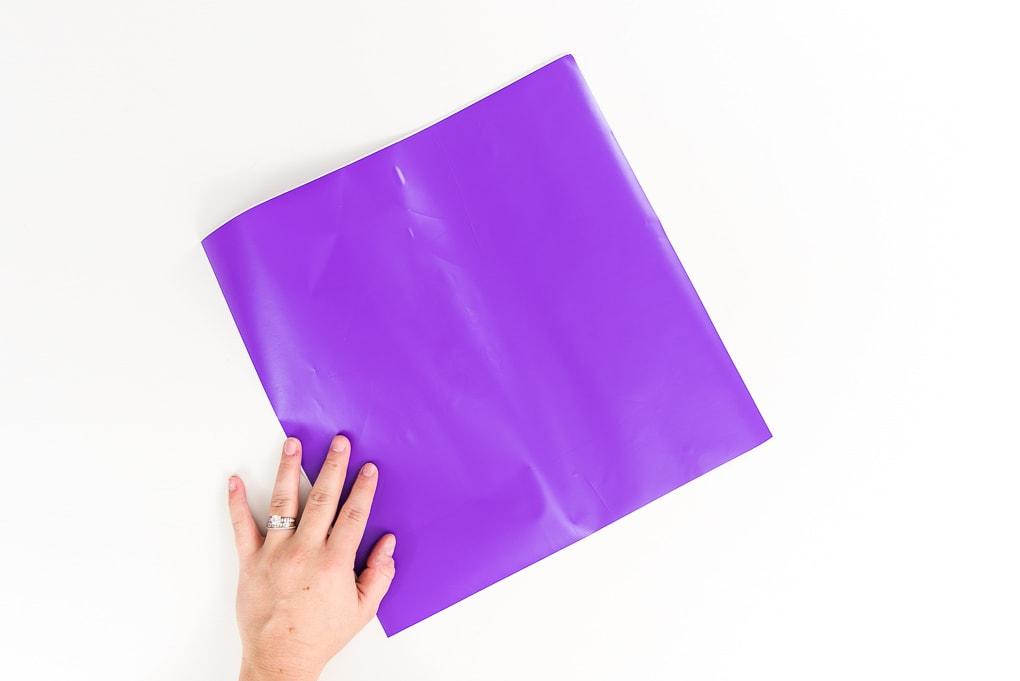 purple piece of vinyl
