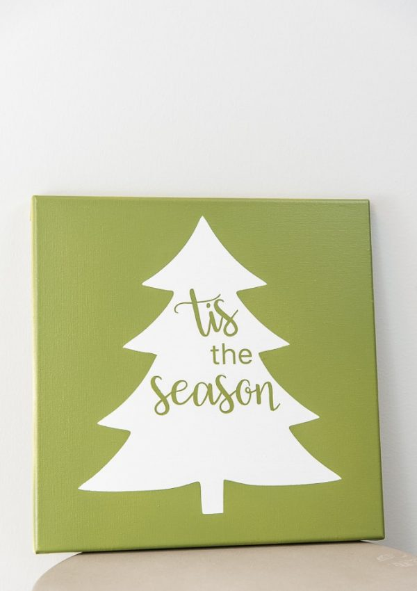 Simple Tis The Season Tree Sign
