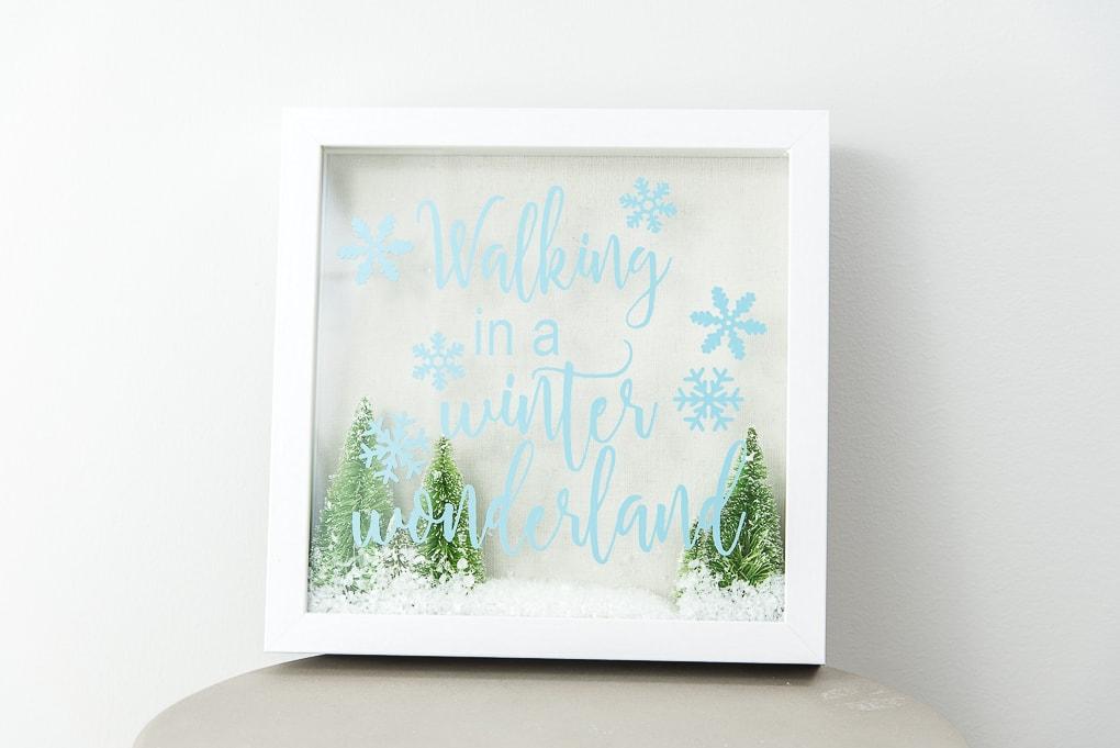 walking in a winter wonderland Christmas shadow box