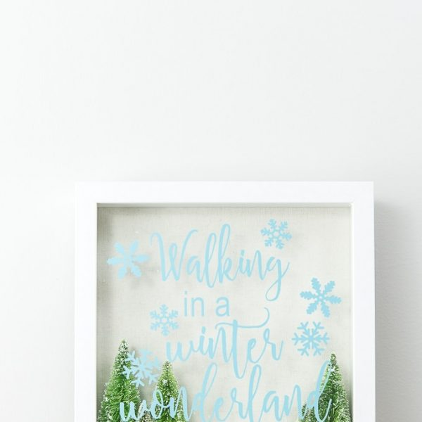 walking in a winter wonderland shadow box close up