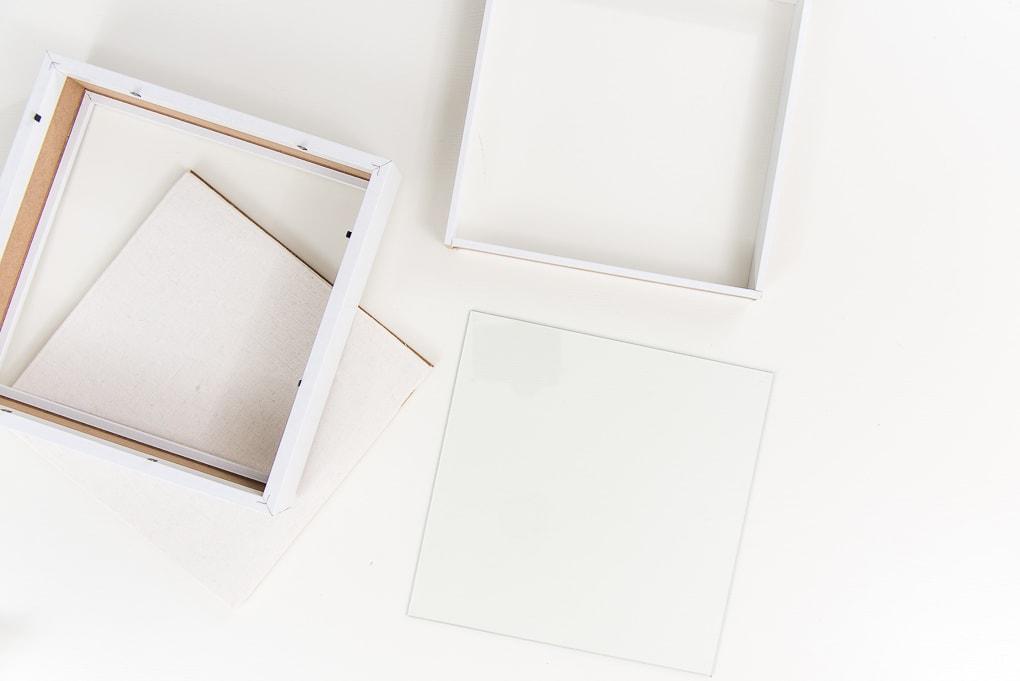 shadow box pieces unassembled