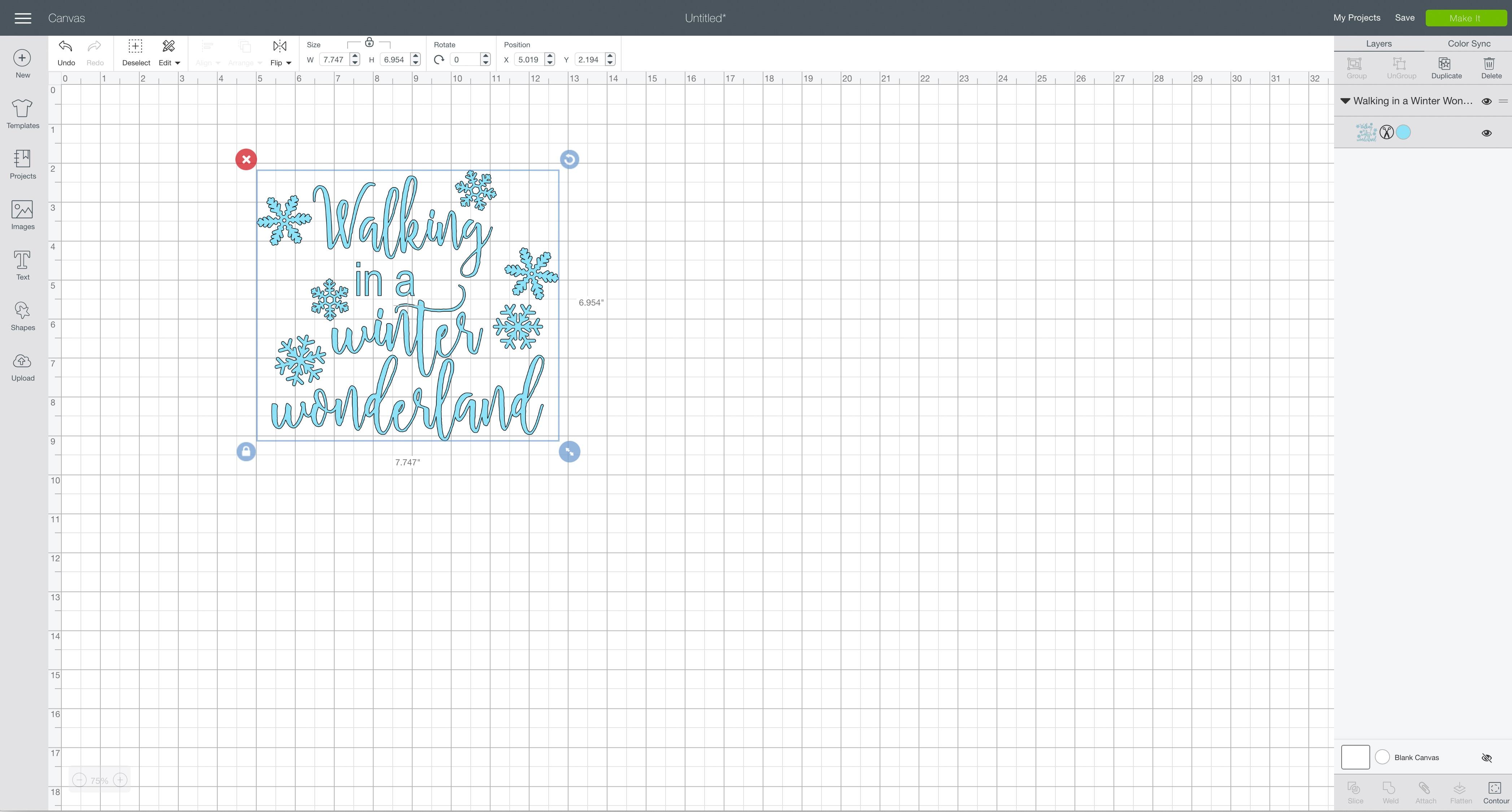 svg design file Cricut Design Space walking in a winter wonderland shadow box