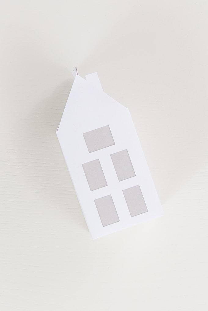 modern paper house with vellum windows
