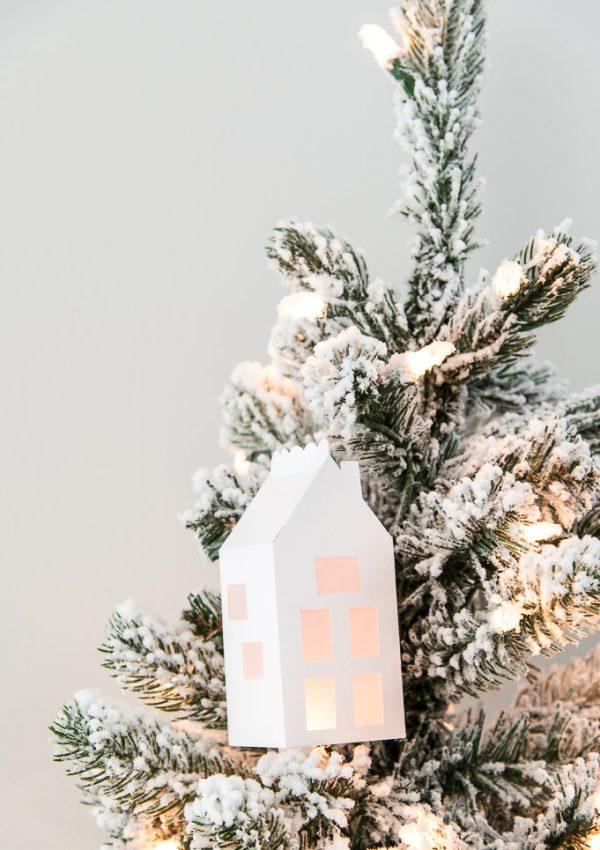 Simple Winter 3D Light Up House Ornament