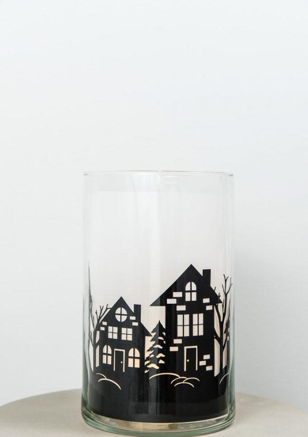 DIY Winter Night Hurricane Vase