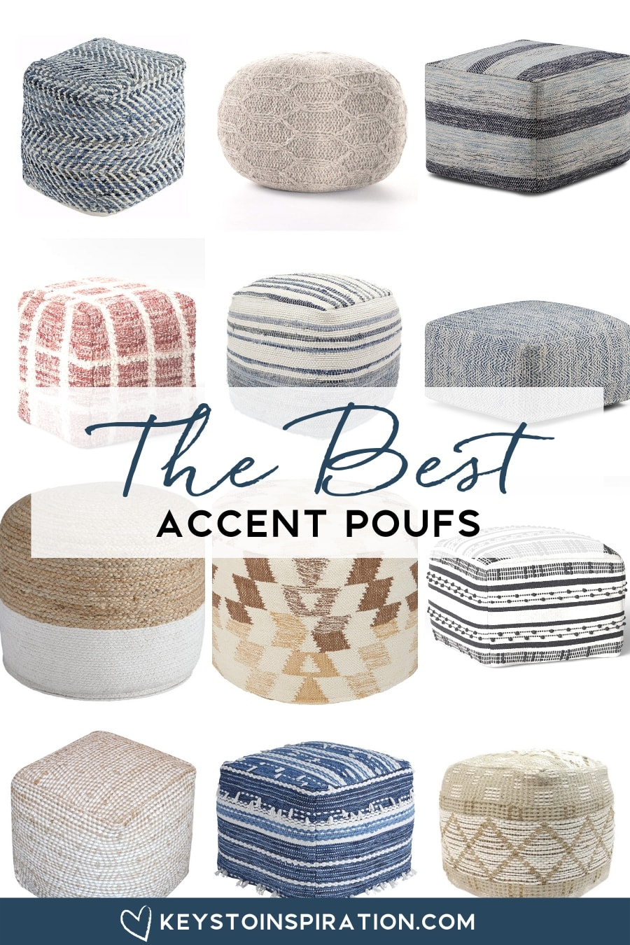 roundup of the best accent poufs for a modern home
