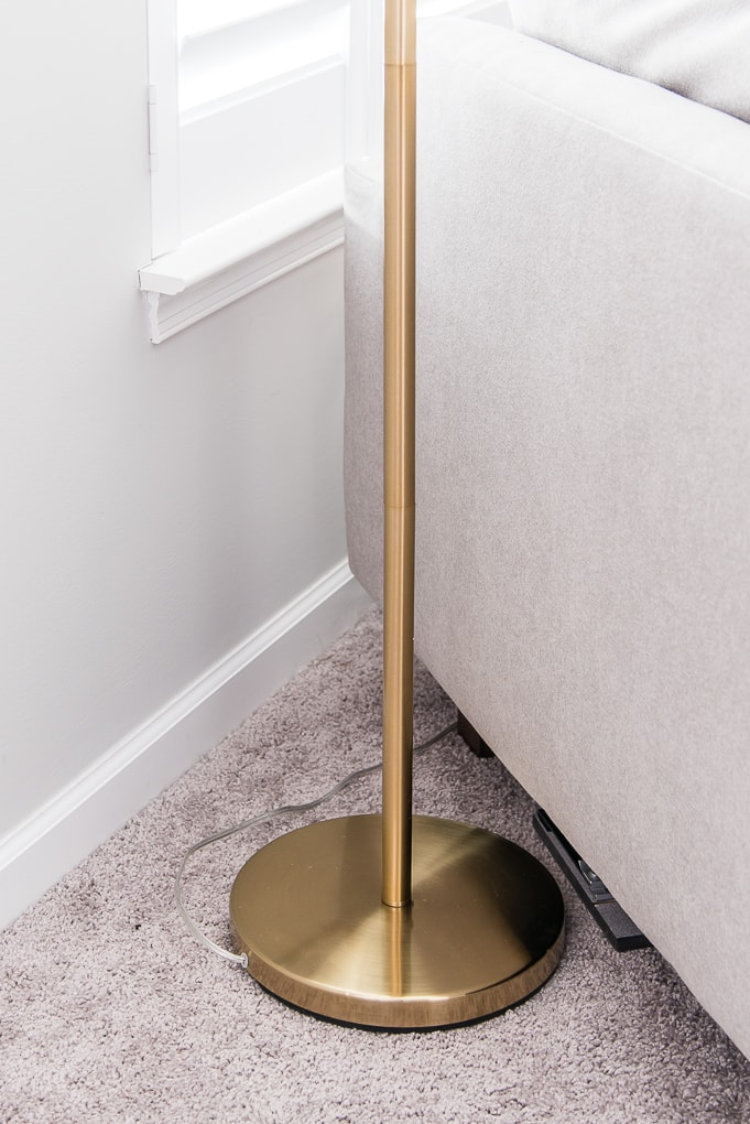base of the Ella floor lamp from Brightech the best modern accent lamp