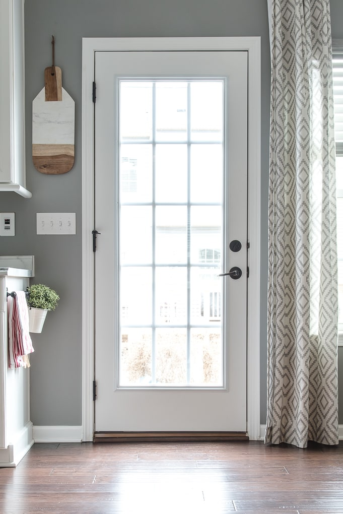 French Door inside home leading to back porch