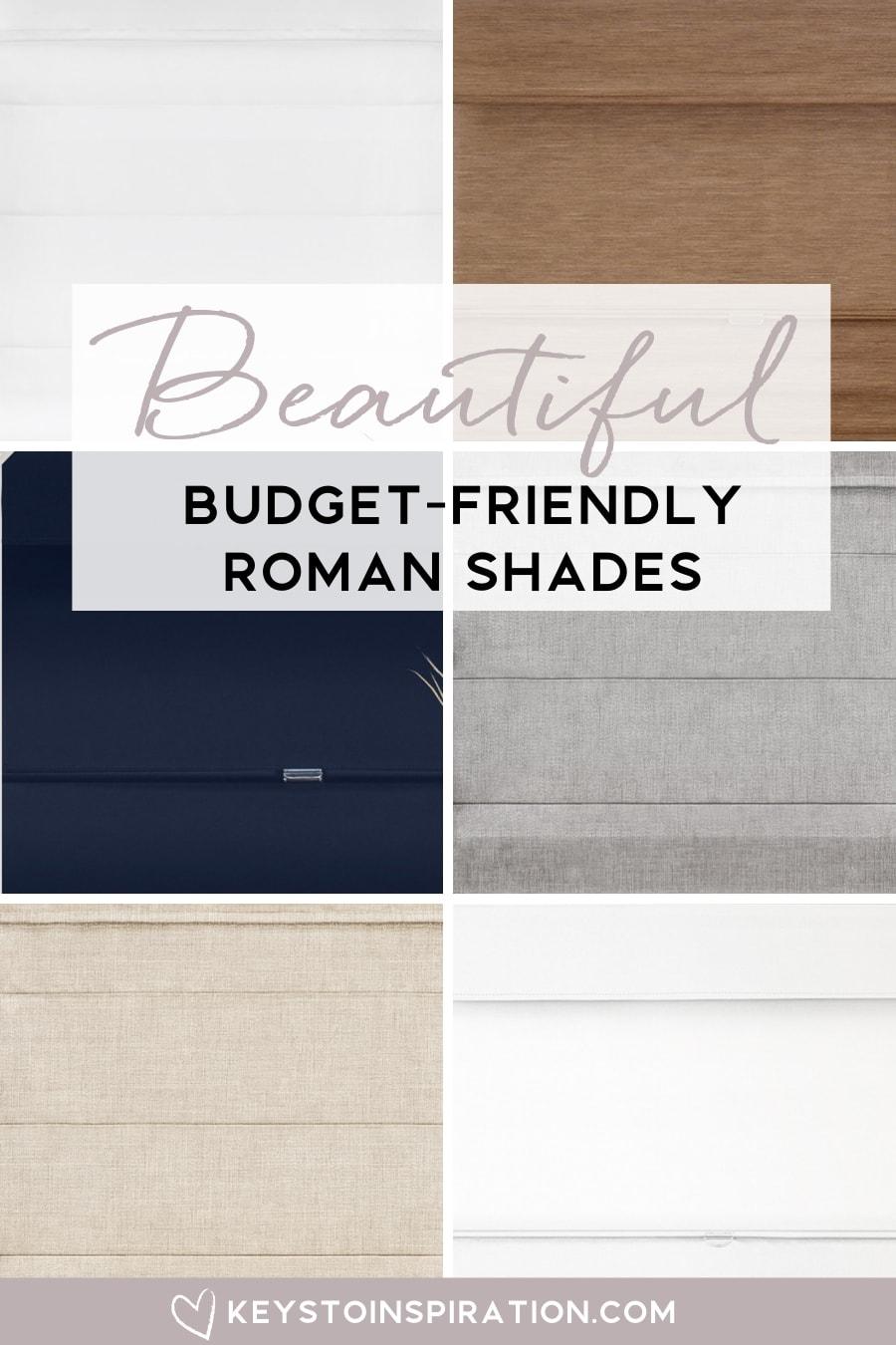 beautiful budget friendly roman shades selections