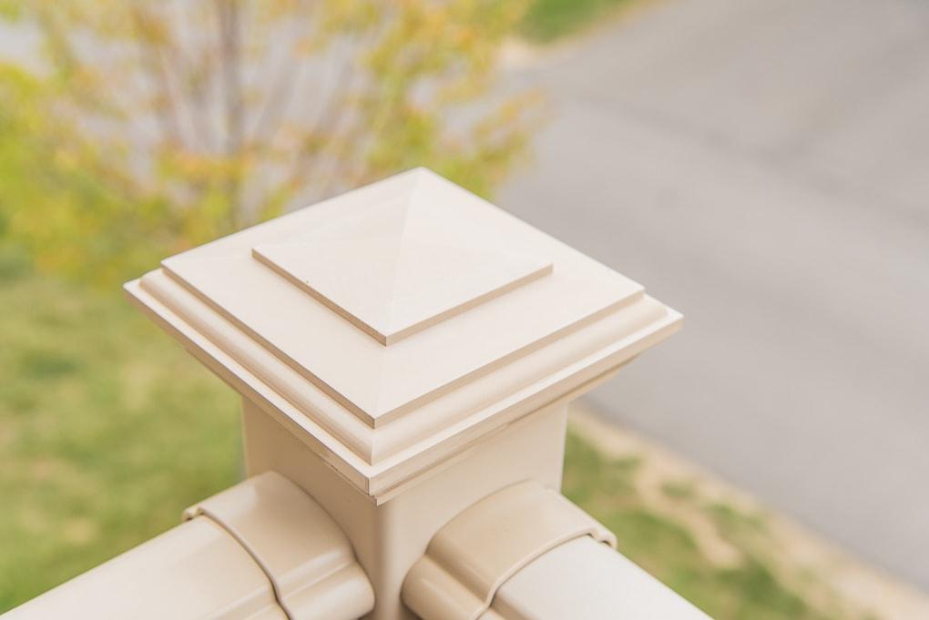 clean outdoor porch deck railing corner