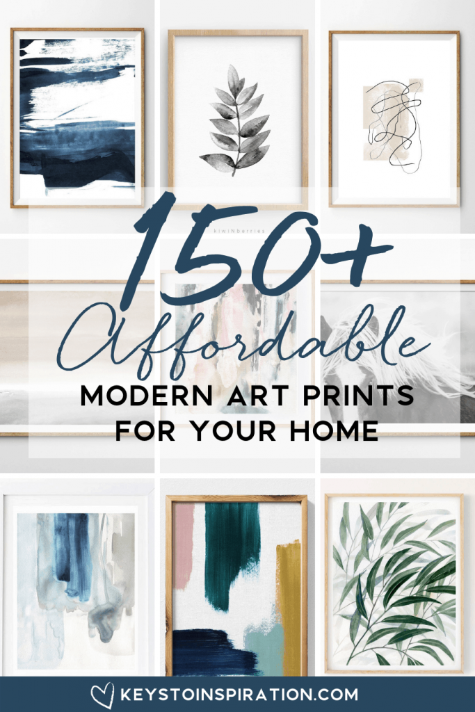 150+ affordable modern art prints for your home from etsy