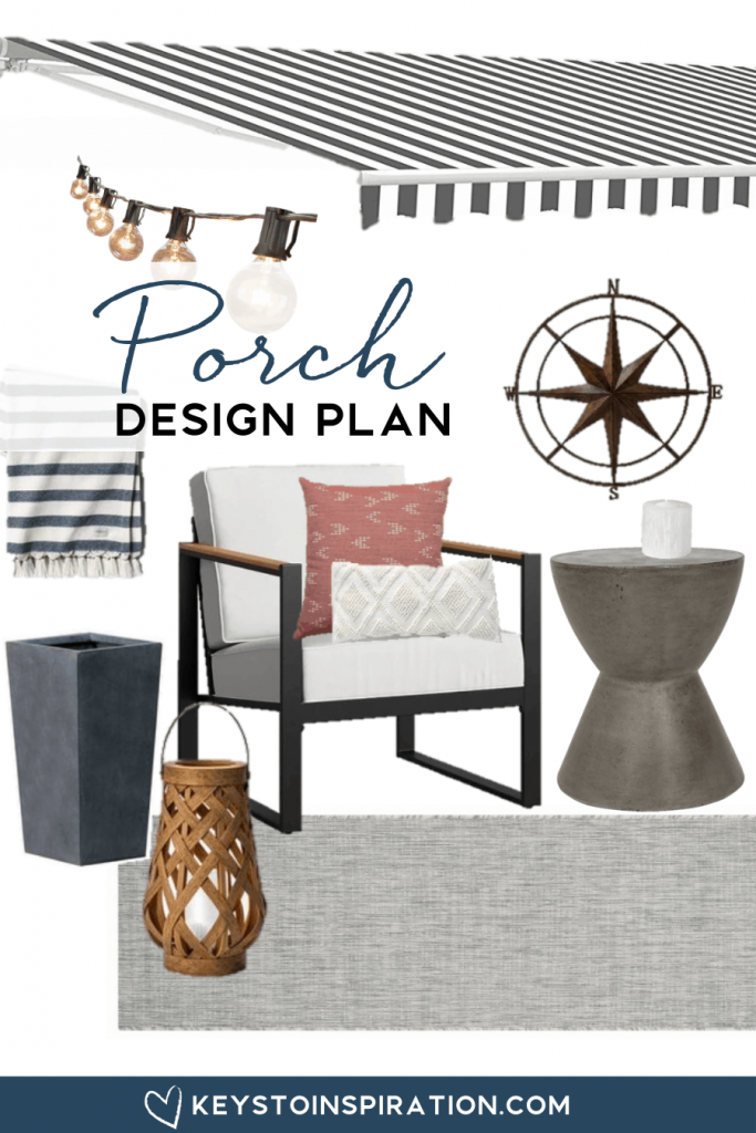 Our small porch design plan summer outdoor space