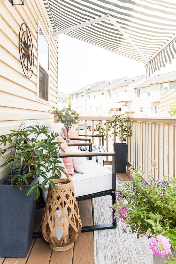 outdoor porch on a townhome design room reveal