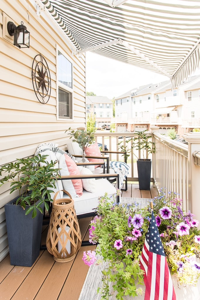 modern outdoor porch townhome room reveal