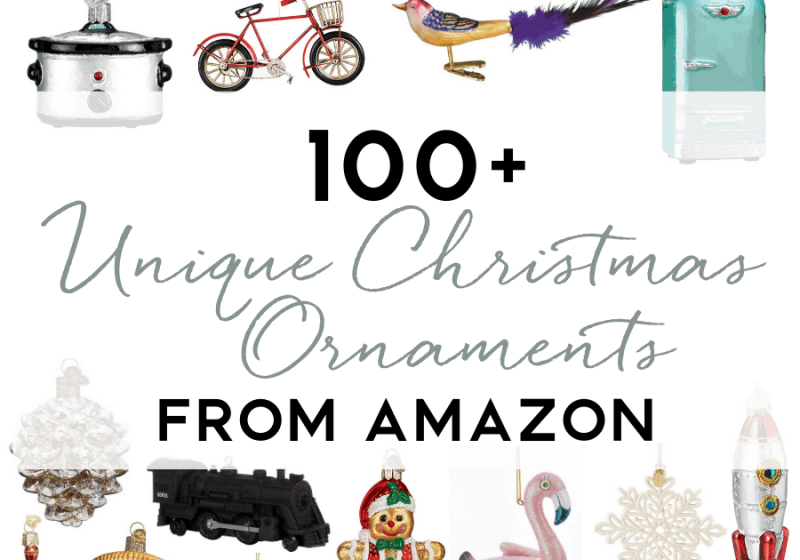 100+ Unique Christmas Ornaments from Amazon